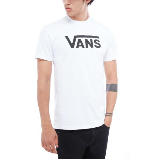 T-Shirt Vans Homme Manches Courtes VGGGYB2 Classic Blanc Logo Imprimé