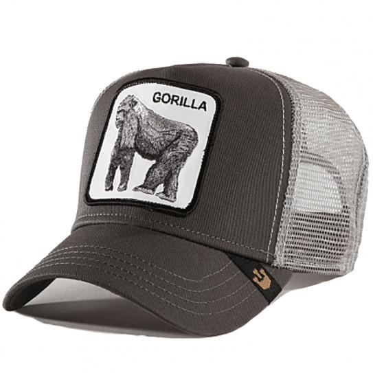 e228cbec2391a Casquette Goorin Bros Trucker Filet Gorilla Gorille Gris Grey