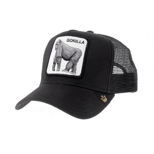 431a3e94ccd61 Casquette Goorin Bros Trucker Filet Gorilla Gorille Noir Black