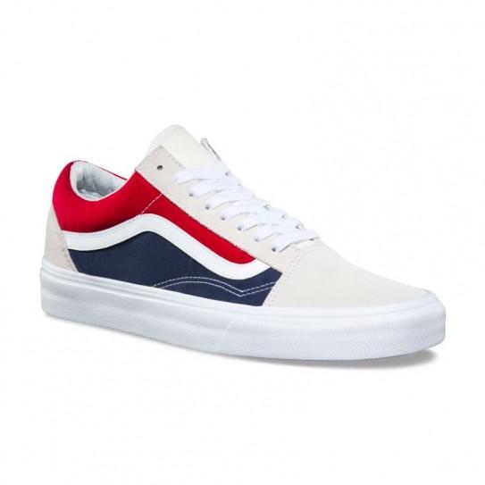 chaussure vans bleu blanc rouge