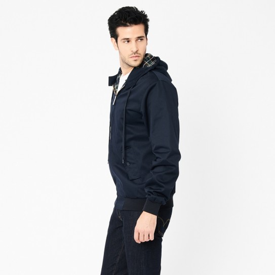 Blouson capuche Harrington marine