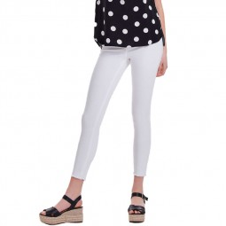 Pantalon Only skinny Blush mid ankle blanc