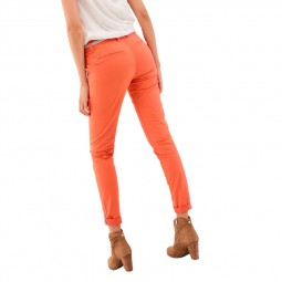 Pantalon chino Salsa corail