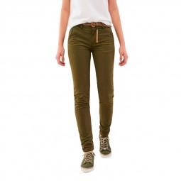 Pantalon chino Salsa kaki