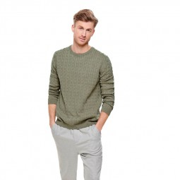 Pull en maille Only & Sons Alex Cable Fallen Rock