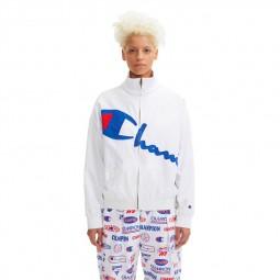 Veste zippée Champion vintage blanc