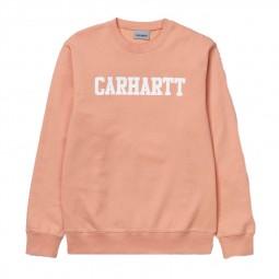 Sweat Carhartt College Peach White