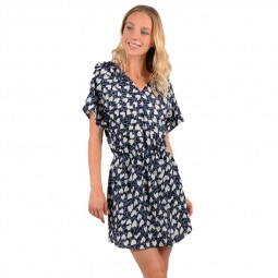 Robe Molly Bracken courte à cœurs bleu marine