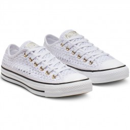 Converse toile basse Chuck Taylor OX crochet white