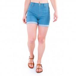 Short 1083 en jean bleu ciel