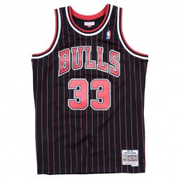 Scottie Pippen Bulls Chicago 33 noir rayé rouge