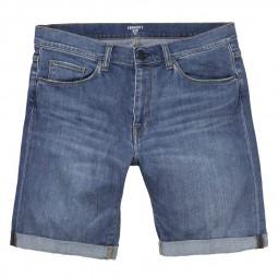 Bermuda en jeans Carhartt denim délavé