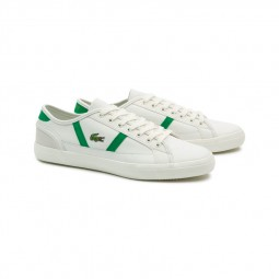 Chaussure Lacoste Sideline blanc et vert