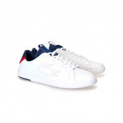 Chaussures Lacoste Carnaby blanc, bleu, rouge