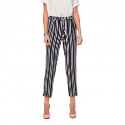 Pantalon Piper Only rayé Night sky