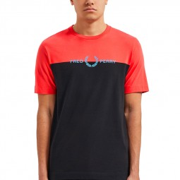 T-shirt Fred Perry M6538 rouge tropical