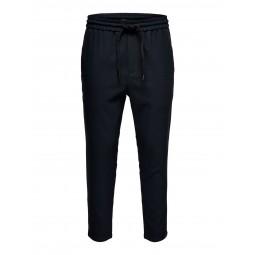 Pantalon Only & Sons antifit bleu marine carreaux