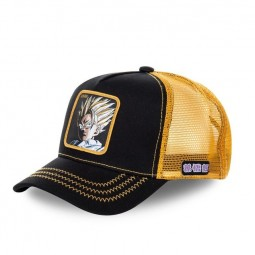 "Casquette Capslab Dragon Ball Z ""Vegeta"" noir et jaune"