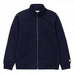 Sweat Carhartt Chase Neck Jacket bleu marine