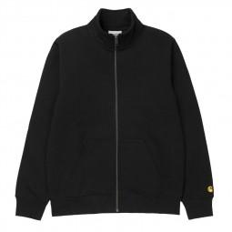 Sweat Carhartt Chase Neck Jacket noir
