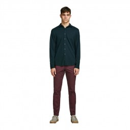 Pantalon en toile Jack & Jones bordeaux
