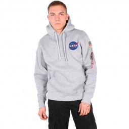 Alpha Industries NASA Space Shuttle Hoody gris