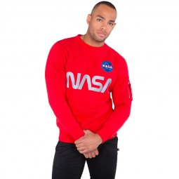 Sweat Alpha Industries NASA Reflective Sweater rouge