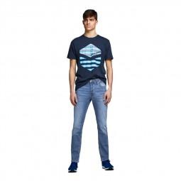 Jeans Jack & Jones Glenn Original bleu clair délavé
