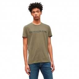 T-shirt Calvin Klein vert kaki