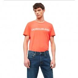 T-shirt Calvin Klein corail