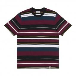 T-shirt Carhartt Flint Merlot Stripe bordeaux rayé