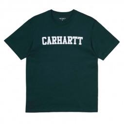 T-shirt Carhartt College Dark Fir vert foncé