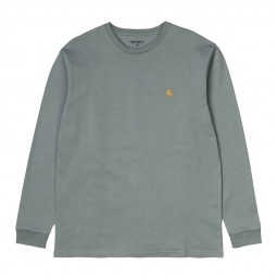 T shirt manches longues Carhartt Chase gris vert