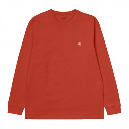 T-shirt manches longues Carhartt Chase orange