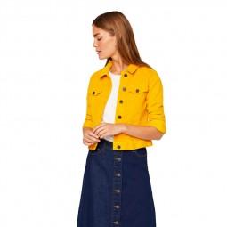 Veste en velours côtelé Noisy May jaune or