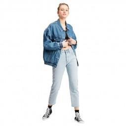 Jean Levi's 501 Crop Jeans indigo bleu clair