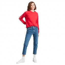 Jean Levi's 501 Crop Jeans bleu moyen