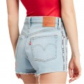 Short Levi's 501 High Rise bleu clair