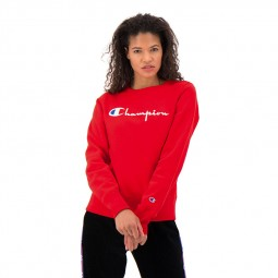 Sweat col rond Champion rouge