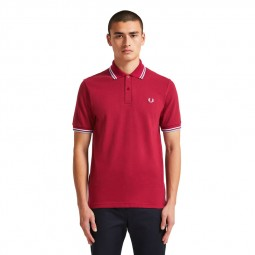 Polo Fred Perry M12 bordeaux