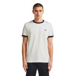 T-Shirt Fred Perry M6347 blanc écru