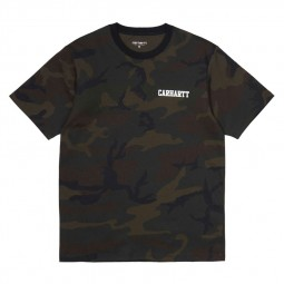 T-shirt Carhartt College Script camouflage