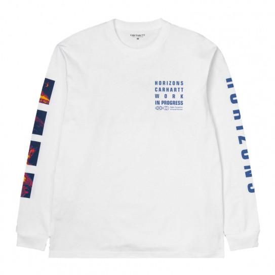 chaussures de séparation e221a ee6cc T-shirt manches longues Horizon Carhartt blanc imprimé | Fred Aston