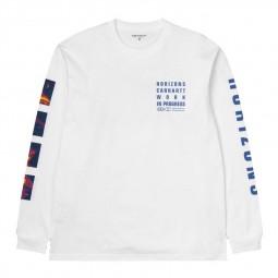 T shirt Manches longues Carhartt Horizon blanc