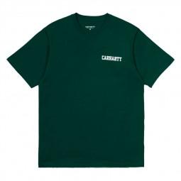 T-shirt Carhartt College Script dark fir vert foncé