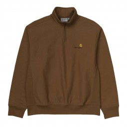 Sweat demi zip Carhartt hamilton brown