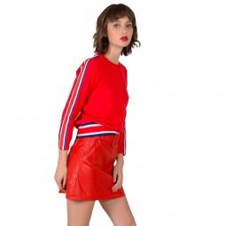 Pull à bandes de couleur Lili Sidonio rouge