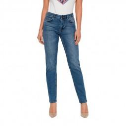 Jeans straight femme Noisy May bleu délavé