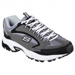 Chaussures Skechers Homme Stamina gris noir