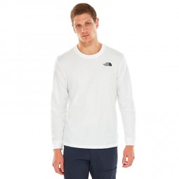 T-shirt manches longues The North Face blanc